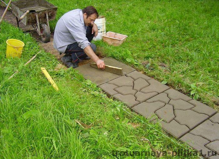 Дорожка на даче своими руками из тротуарной плитки - преимущества в Наро-Фоминске