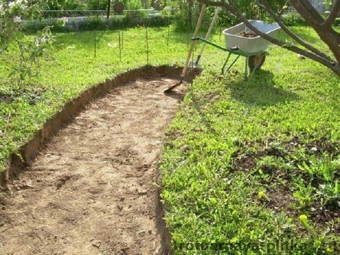 Садовые дорожки из тротуарной плитки в Наро-Фоминске - готовим основание