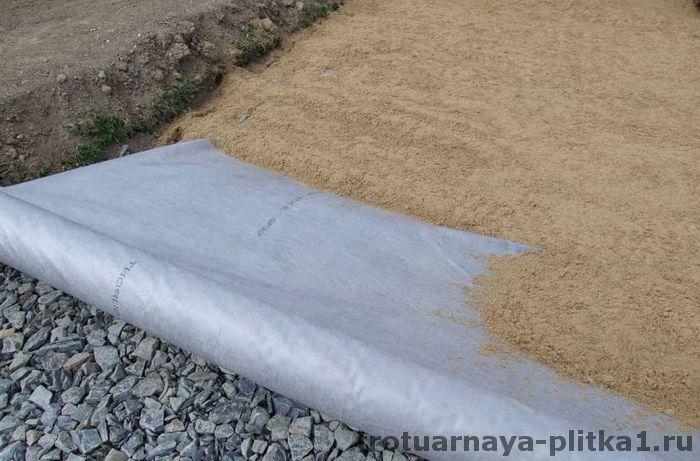 подушка для основания дорожки из тротуарной плитки в Наро-Фоминске - готовим основание