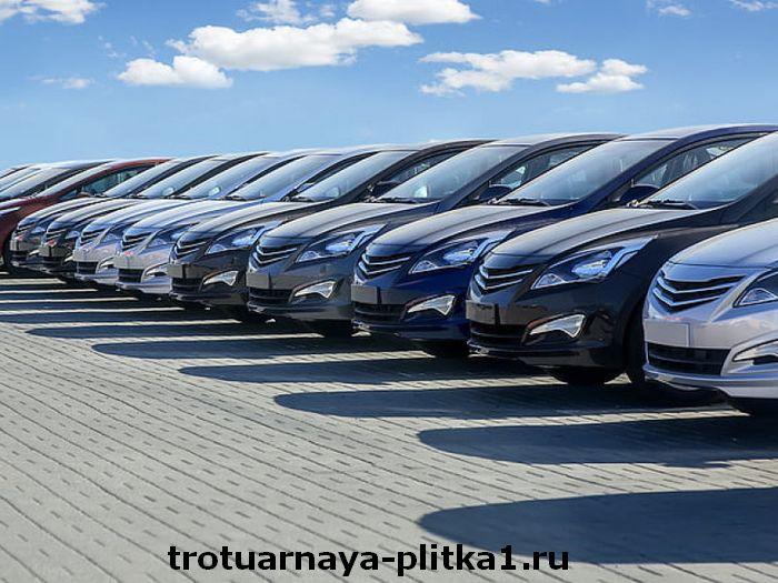 Требования к толщине и размерам тротуарной плитки для парковки в Наро-Фоминске