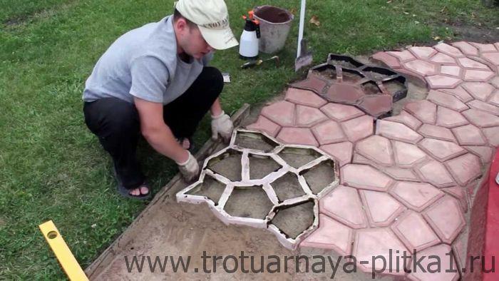 Тротуарная плитка своими руками в Наро-Фоминске