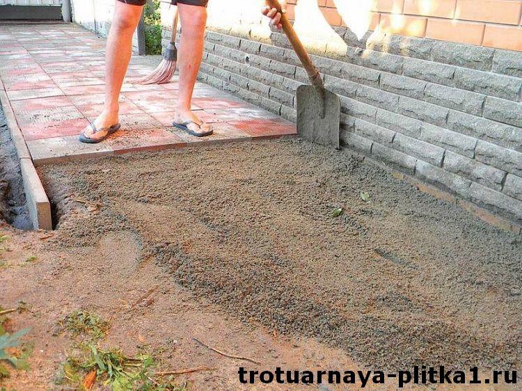 Укладка тротуарной плитки на песок в Наро-Фоминске