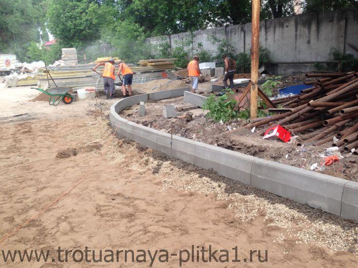 Монтаж бортового камня - цена от производителя в Наро-Фоминске
