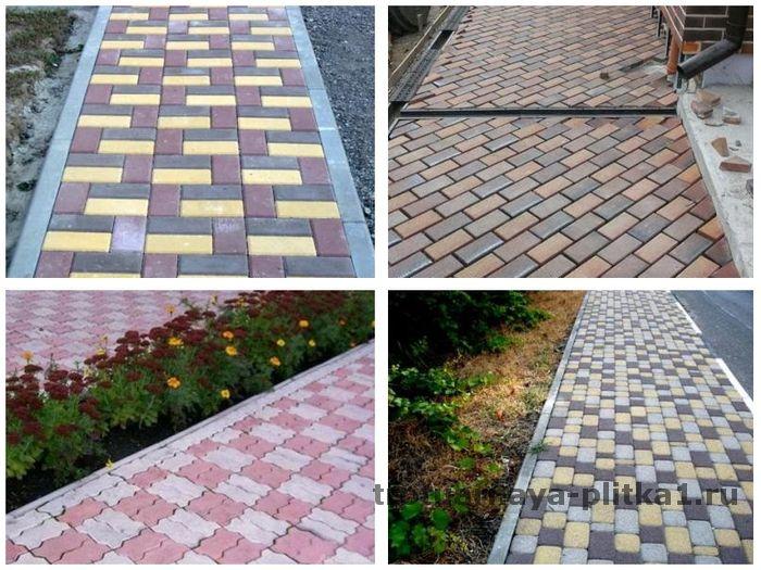 Варианты укладки тротуарной плитки в Наро-Фоминске